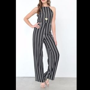 Pants - 🌺flash sale🌺 Black and White Pinstripe Jumpsuit